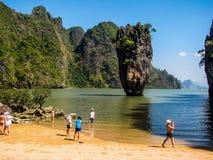 Τουρισμός στην έννοια της Ταϊλάνδης Στοκ εικόνες με δικαίωμα ελεύθερης χρήσης