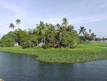 Τουρισμός τελμάτων Alleppey στο Κεράλα στοκ φωτογραφίες
