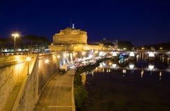 τουρισμός του Angelo castel Ρώμη sant Στοκ Εικόνες