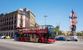 Τουριστηκό λεωφορείο πόλεων της Βαρκελώνης Στοκ Φωτογραφίες