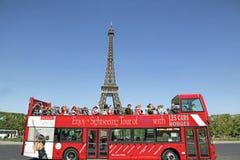 Τουριστηκό λεωφορείο πύργων του Άιφελ, Παρίσι, Γαλλία Στοκ Φωτογραφία