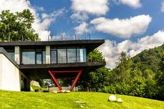 Τουριστική σύνταξη σπιτιών βουνών Στοκ Φωτογραφία