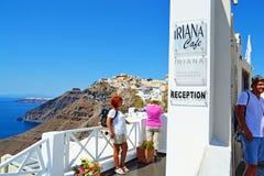 Τουριστικό αξιοθέατο Κυκλάδες Ελλάδα νησιών Santorini Στοκ φωτογραφία με δικαίωμα ελεύθερης χρήσης
