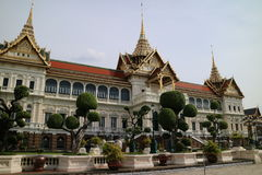 Τουριστικό αξιοθέατο της Ταϊλάνδης παλατιών της Μπανγκόκ μεγάλο Στοκ Φωτογραφίες