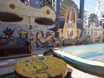 τουριστικό αξιοθέατο, τουρισμός, αναψυχή, τοιχογραφία, ελεύθερος χρόνος, ιπποδρόμιο, ιπποδρόμιο, εύθυμος-πηγαίνω-γύρω από, διαστα Στοκ Εικόνες