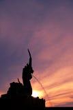 Τουριστικό αξιοθέατο Naga σκιαγραφιών Στοκ Εικόνες