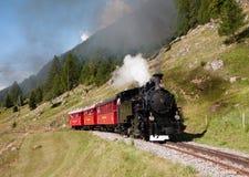 Τουριστικό τραίνο ατμού στην Ελβετία Στοκ Φωτογραφία