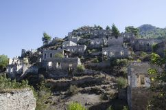 Τουρκία, η πόλη-φάντασμα Kayakei, μια γενική άποψη της πόλης, Στοκ φωτογραφία με δικαίωμα ελεύθερης χρήσης