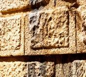 Τουρκία και ραγισμένο τούβλο βημάτων στο παλαιό materia σύστασης τοίχων Στοκ φωτογραφίες με δικαίωμα ελεύθερης χρήσης