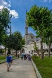 Τουρκία μπλε μουσουλμανικό τέμενος της Κωνσταντινούπολης Στοκ φωτογραφία με δικαίωμα ελεύθερης χρήσης