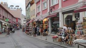 Τουρκία, οδός, πόλη, τουρισμός, αρχιτεκτονική, παλαιά, εικονική παράσταση πόλης, αστική, τραμ, πολιτισμός, taksim, σκηνή, beyoglu απόθεμα βίντεο