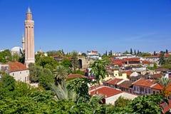 Τουρκία. Ο παλαιός κεντρικός Antalya. Μιναρές Yivli Στοκ Εικόνες