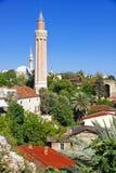 Τουρκία. Ο παλαιός κεντρικός Antalya. Μιναρές Yivli Στοκ φωτογραφία με δικαίωμα ελεύθερης χρήσης