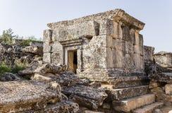 Τουρκία Hierapolis (Pamukkale) Παλαιό crypt στη νεκρόπολη Στοκ Εικόνες