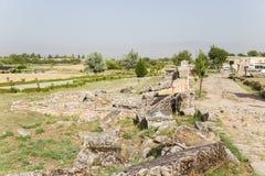 Τουρκία, Pamukkale Άποψη των καταστροφών της νεκρόπολη Hierapolis Στοκ Εικόνες