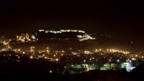 Τουρκία - Uchisar τή νύχτα - timelapse απόθεμα βίντεο