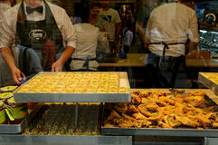 Τουρκικά γλυκά στοκ φωτογραφίες