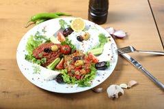 Τουρκικά παραδοσιακά τρόφιμα Shakshuka Στοκ φωτογραφία με δικαίωμα ελεύθερης χρήσης