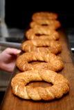 Τουρκικά τρόφιμα simit Στοκ Εικόνα