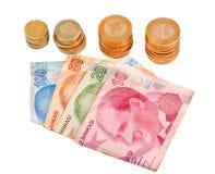 Τουρκικά χρήματα στο άσπρο υπόβαθρο Στοκ εικόνες με δικαίωμα ελεύθερης χρήσης