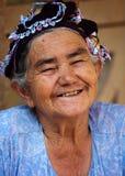 Τουρκική ανώτερη γυναίκα Στοκ Φωτογραφία