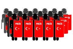 Τουρκική αστυνομία ταραχής Στοκ φωτογραφία με δικαίωμα ελεύθερης χρήσης