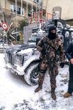 Τουρκική γρήγορη ειδικευμένη δύναμη ομάδα Cevik Kuvvet απάντησης Στοκ εικόνες με δικαίωμα ελεύθερης χρήσης