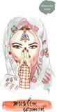 Τουρκική γυναίκα απεικόνιση αποθεμάτων