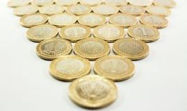 Τουρκική λιρέτα - χρήματα σιδήρου 1 TL Στοκ φωτογραφία με δικαίωμα ελεύθερης χρήσης