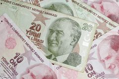 Τουρκική λιρέτα Στοκ Φωτογραφία