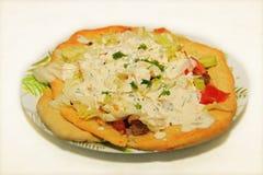 Τουρκική πίτσα Lahmacun Στοκ εικόνα με δικαίωμα ελεύθερης χρήσης