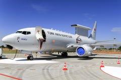 Τουρκική Πολεμική Αεροπορία Boeing 737 Wedgetail Στοκ φωτογραφία με δικαίωμα ελεύθερης χρήσης