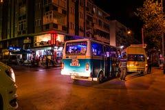 Τουρκική πόλη θερινών διακοπών τη νύχτα Στοκ φωτογραφίες με δικαίωμα ελεύθερης χρήσης