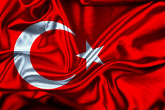 Τουρκική σημαία, Τουρκία, σχέδιο σημαιών Στοκ Φωτογραφίες