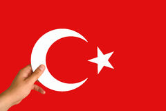 Τουρκική σημαία, Τουρκία, σχέδιο σημαιών στοκ φωτογραφία