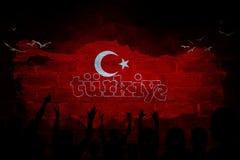 Τουρκική σημαία, Τουρκία, σχέδιο σημαιών Στοκ Εικόνες
