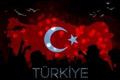 Τουρκική σημαία, Τουρκία, σχέδιο σημαιών Στοκ φωτογραφία με δικαίωμα ελεύθερης χρήσης
