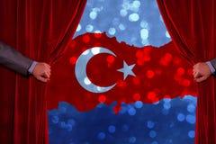 Τουρκική σημαία, Τουρκία, σχέδιο σημαιών Στοκ φωτογραφίες με δικαίωμα ελεύθερης χρήσης