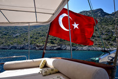 Τουρκική σημαία Στοκ φωτογραφία με δικαίωμα ελεύθερης χρήσης