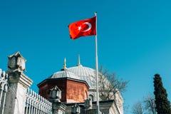Τουρκική σημαία Στοκ Εικόνες