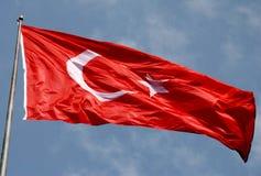Τουρκική σημαία Στοκ εικόνα με δικαίωμα ελεύθερης χρήσης