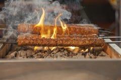 Τουρκική σχάρα kebab Στοκ Εικόνα