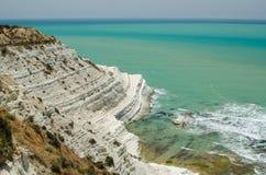 Τουρκικοί βράχοι κοντά στο Agrigento (Σικελία) Στοκ Εικόνες
