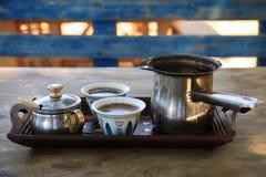 Τουρκικός καφές που θέτει στο Λίβανο Στοκ εικόνες με δικαίωμα ελεύθερης χρήσης