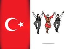 Τουρκικός πολιτισμός για Huron το εικονίδιο χορού απεικόνιση αποθεμάτων