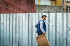 Τουρκικό άτομο στην οδό σε ıstanbul, Τουρκία Στοκ Φωτογραφία