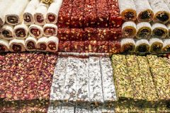 Τουρκικό απόλαυση ή lokum στοκ εικόνα
