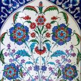 Τουρκικό ασιατικό σχέδιο κεραμικών κεραμιδιών Στοκ Εικόνες