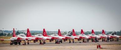 Τουρκικό αστέρι Airplains στοκ φωτογραφία