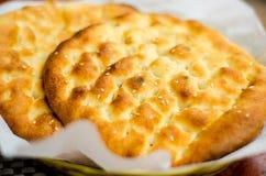 Τουρκικό επίπεδο ψωμί Στοκ Φωτογραφία